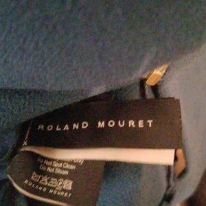 Roland Mouret Dresses - Roland Mouret Teal V Neck Midi Dress